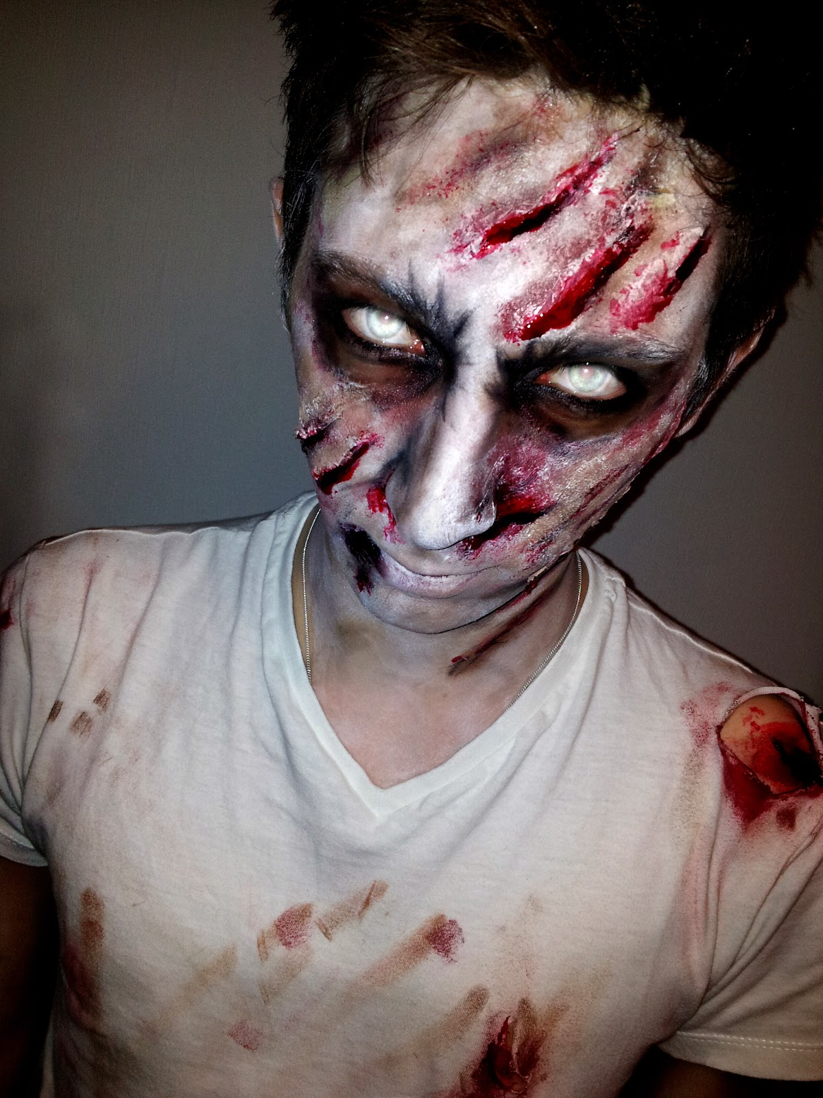 Lynsey Mckenzie Make Up Blog: Halloween: Zombie - Mens Halloween Makeup