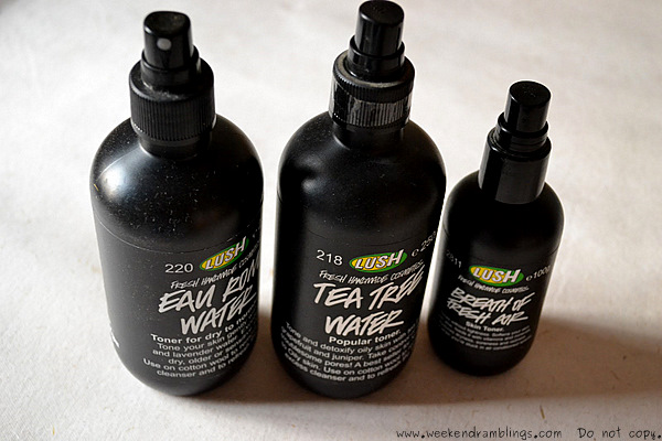 Lush Toner Water Breath of Fresh Air Eau Roma Tea Tree review