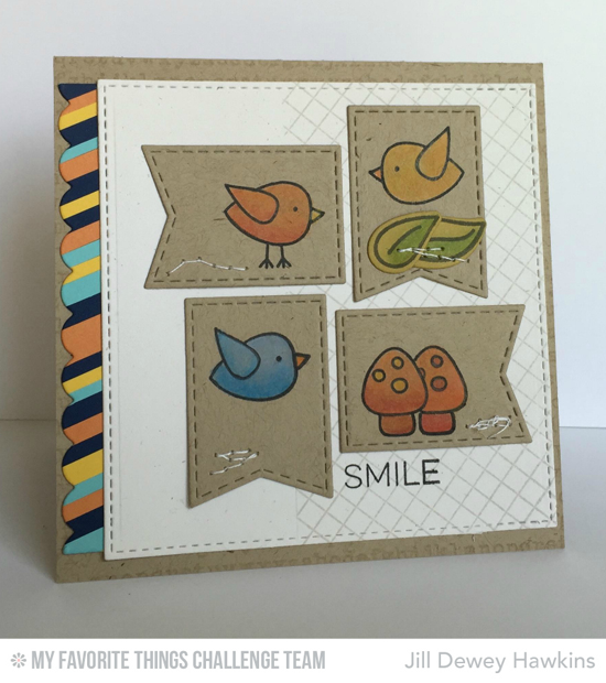 Sweet Smile Card from Jill Dewey Hawkins featuring the Tweet on You stamp set  Die-namics