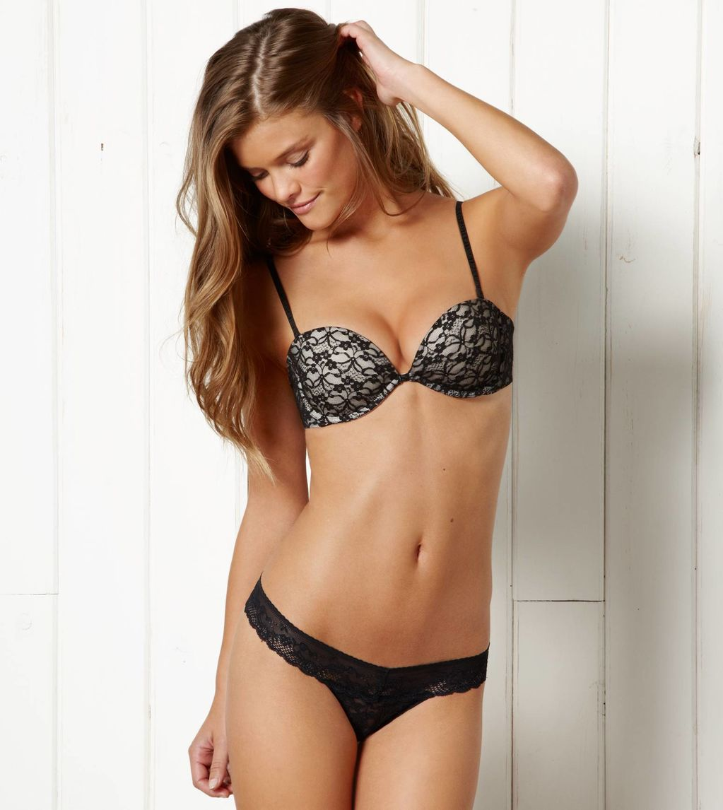 Nina agdal lingerie with