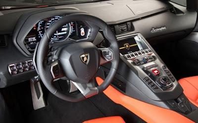Lamborghini Aventador Cabin