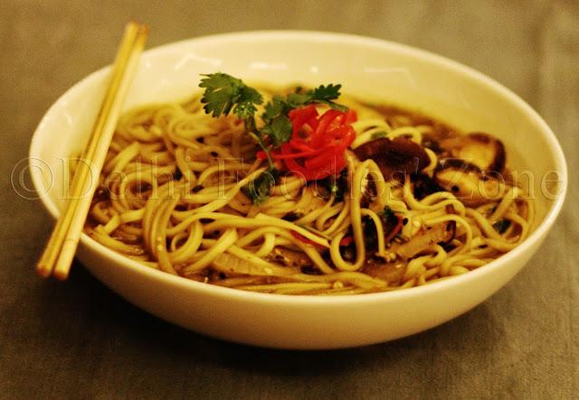 Diva Kitsch, bowl, udon noodles, shiitake