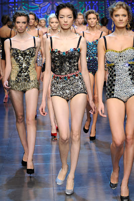 Dolce & Gabbana Fashion Show Collection for Spring Summer 2012 - One Piece Bodices