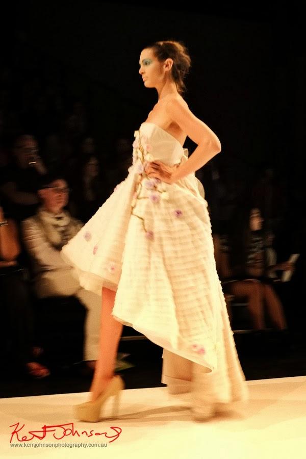 Emma MacGregor, evening dress -  New Byzantium : Raffles Graduate Fashion Parade 2013 - Photography by Kent Johnson.