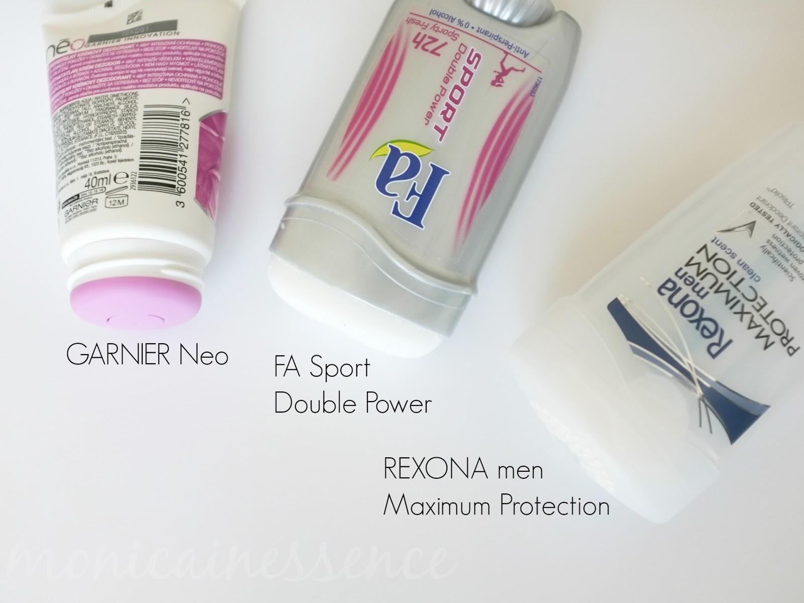 deodorant, fa, rexona, garnier, neo, potenie