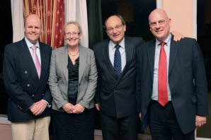 Conservative MEPs Giles Chichester, Ashley Fox and Julie Girling pictured with Gibraltar's Chief Minister Peter Caruana, second right (Photo: Ashley Fox MEP newsletter)
