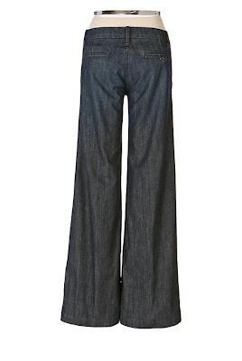 Anthropologie Tab Waist Denim Trouser