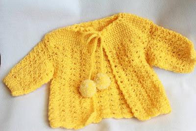 Baby's Filet Jacket - Free Vintage Crochet Pattern