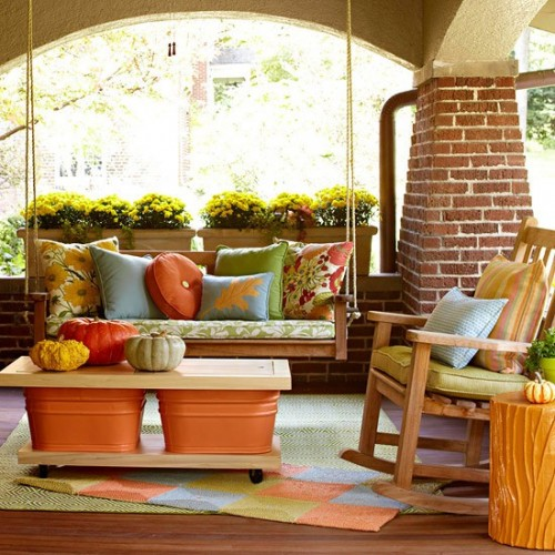 Fall porch decorating ideas luxury lifestyle design for Fall patio decorating ideas