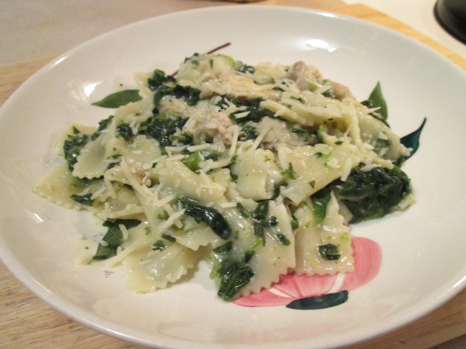 Dinner Tonight: Chicken Florentine & Farfalle Complete Skillet Meal w ...