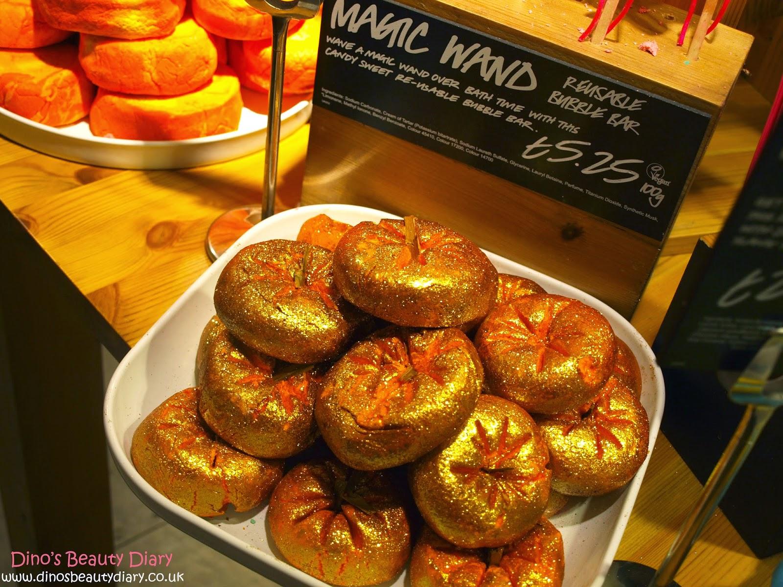 Dino's Beauty Diary - Lush Nottingham Bloggers Event - Sparkly Pumpkin Bubble Bar