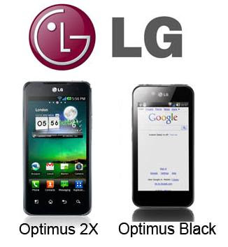 LG Optimus 2x & LG Optimus Black launched in Singapore