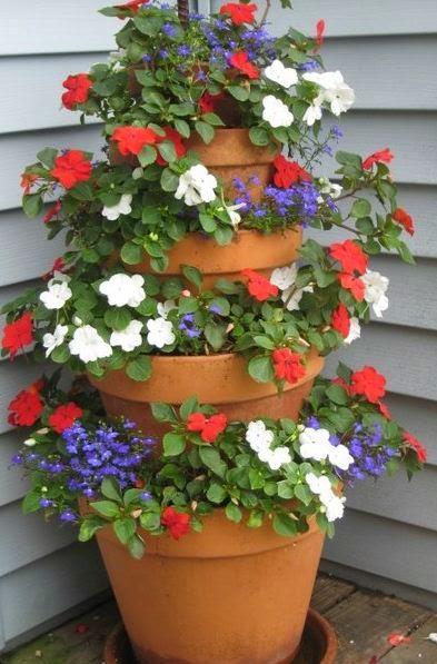Cómo decorar la entrada de la casa con macetas ~ cositasconmesh