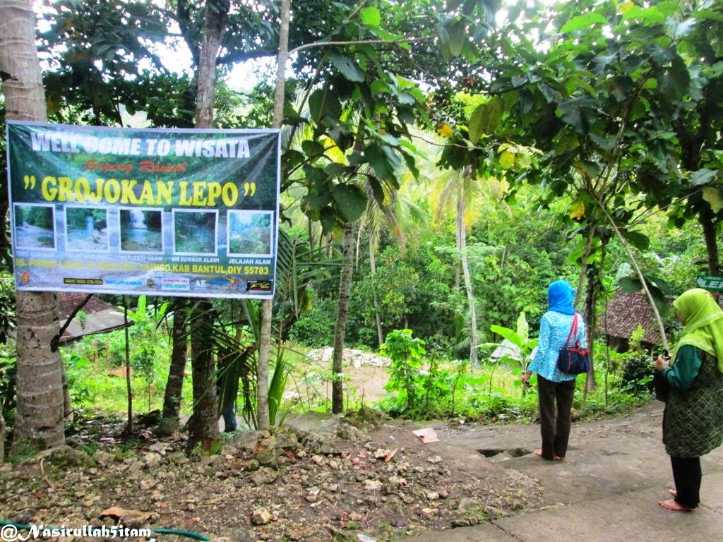 Sampai dilokasi jalan menuju Curug Lepo, Dlingo