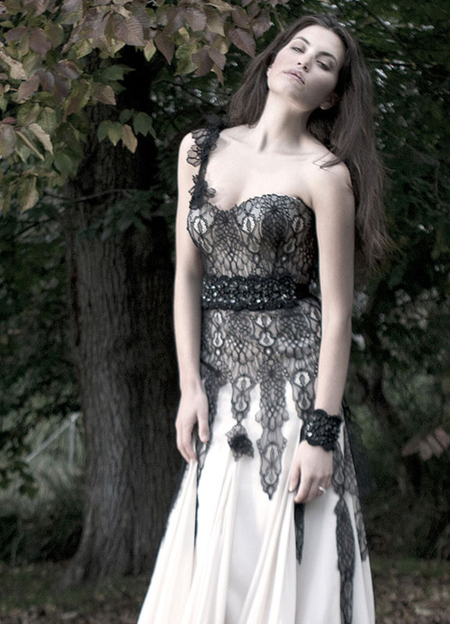 bridal collection black lace wedding dress is complete gorgeousness