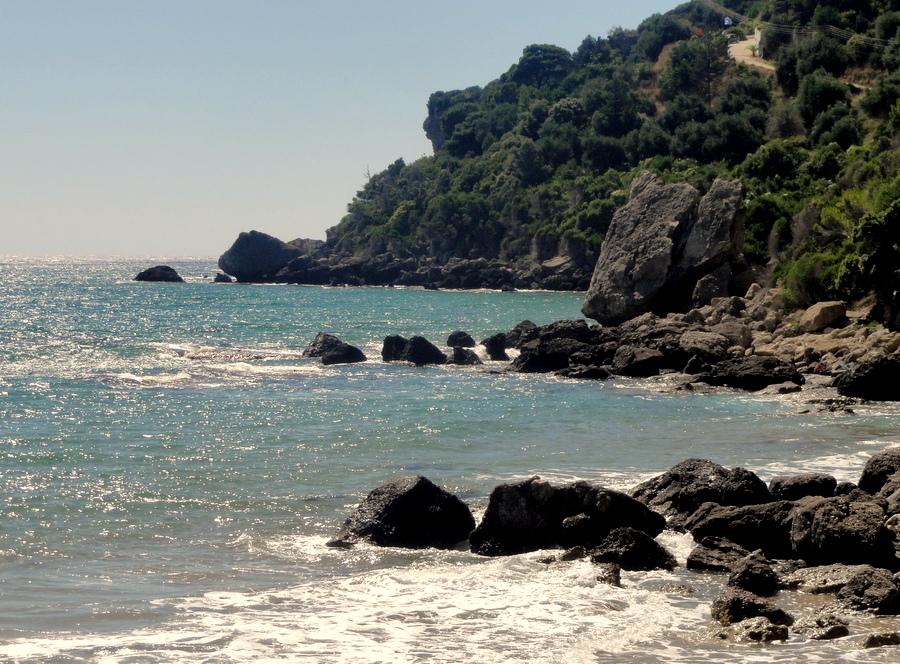 Nudist beach corfu