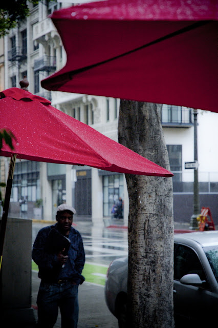 Umbrellas in the rain, Spring Street (C)2012 Glenn Primm Photography