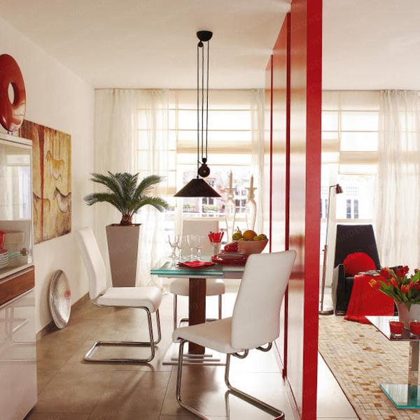 Сквозная перегородка в дизайне интерьера гостиной, фото 3.