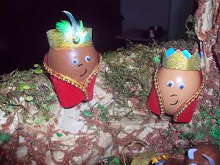Pesebres con Huevos, Ideas de Reciclaje para Navidad