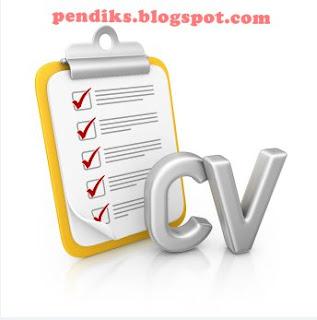 pendiks Contoh Daftar Riwayat Hidup atau CV