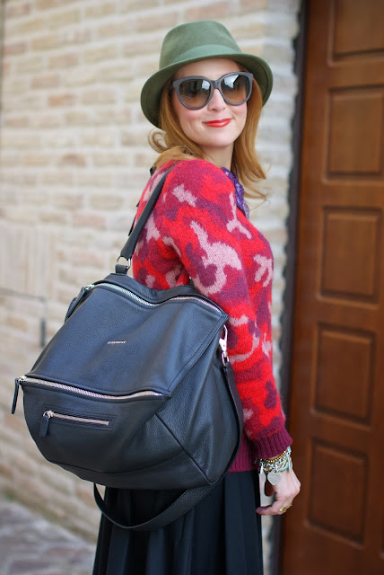 camouflage country look, Givenchy Pandora bag, green fedora, Fashion and Cookies, fashion blogger