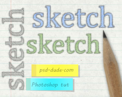 Create a Sketch Text in Photoshop