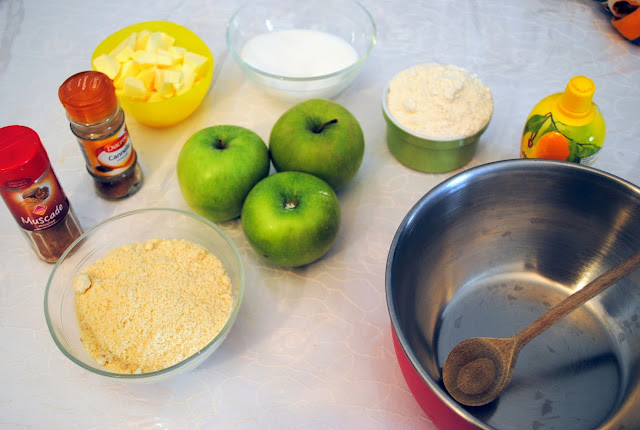 ingrédients crumble pommes recette