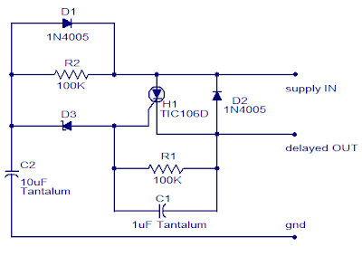 SCR - DC Power Delay Circuit