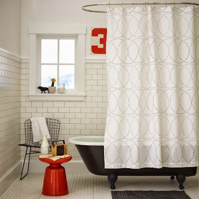 Mad For Mid Century Mid Century Modern Shower Curtain With Gray Circles