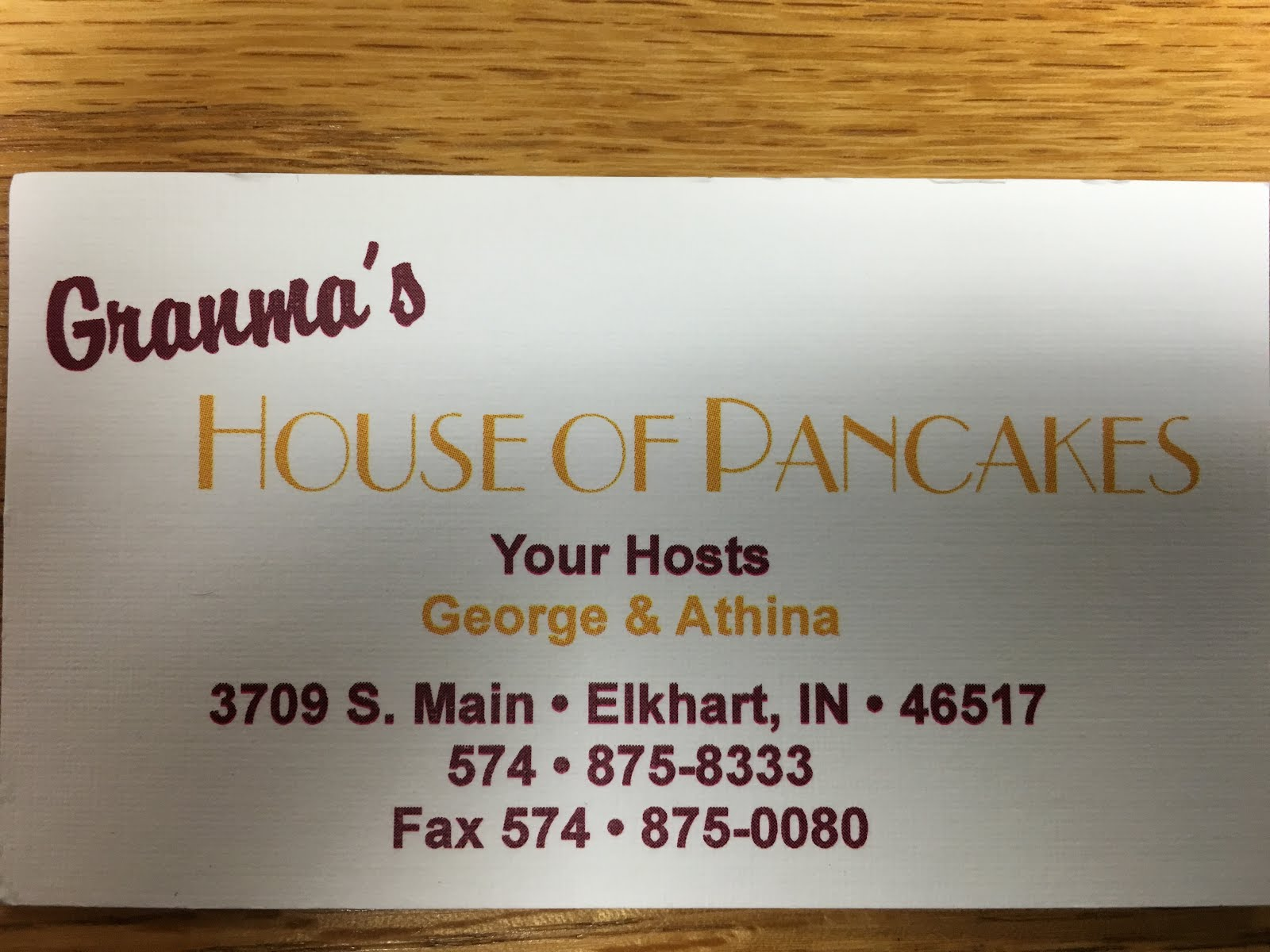 Granma's House of Pancakes