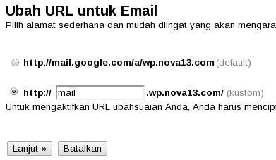 Ubah URL email domain
