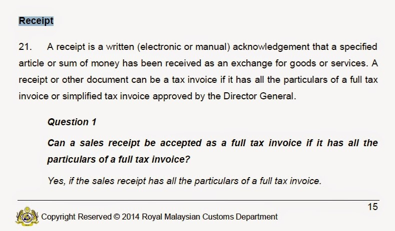 However, It Is The Custom Themselves Provide The Following Guideline That  Electronic Or Manual For A Tax Invoice Is Allowable As Below.  Written Invoice