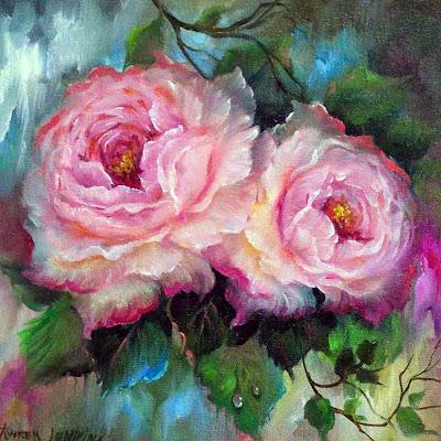flores-al-oleo-lienzo