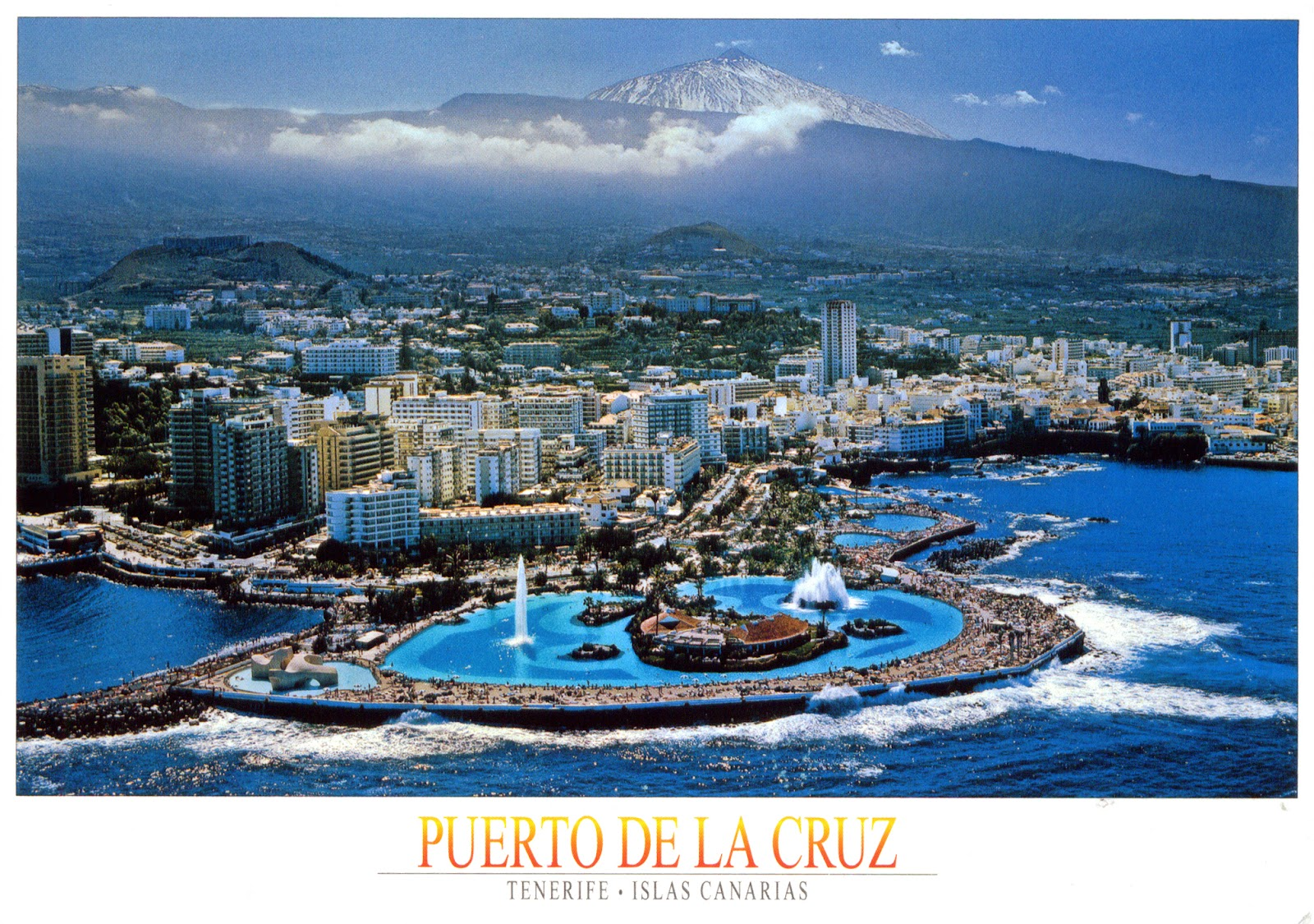 World come to my home 0508 spain canary islands puerto de la cruz and mount teide - Playa puerto de la cruz tenerife ...