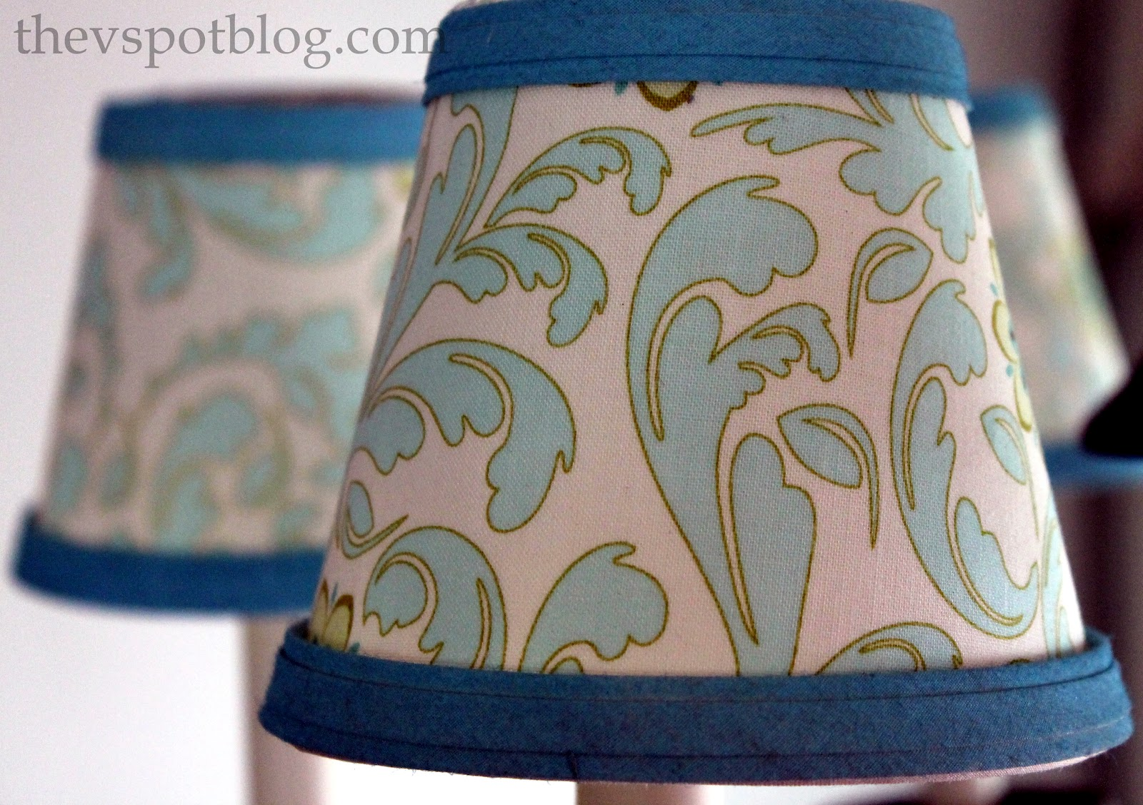 to recover plain white lampshades with fabric and paintmom it forward. Black Bedroom Furniture Sets. Home Design Ideas