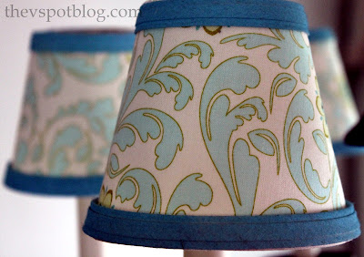 DIY: How to Recover Plain White Lampshades with Fabric and Paint