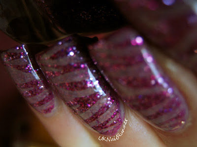Quirk Breast In Show stamped with Barry M Matte Caramel and Cheeky Wild At Heart Jumbo plate