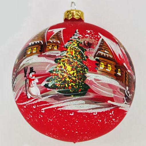Multinotas navidad bolas rojas de cristal con dise os for Bolas de cristal decorativas
