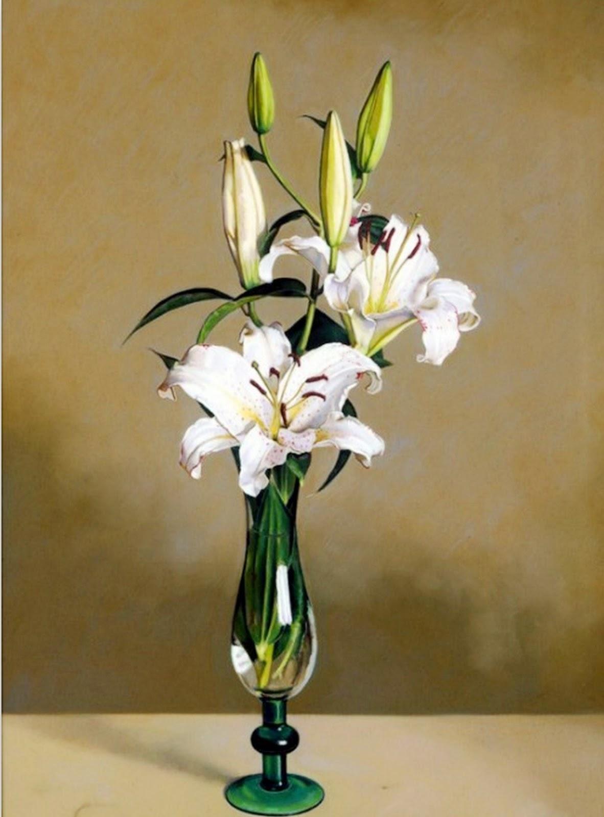 Cuadros modernos pinturas y dibujos cuadros de flores - Fotos jarrones con flores ...