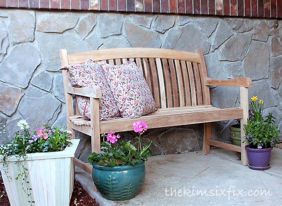 Beautiful Teak Bench For The Front Porch The Kim Six Fix