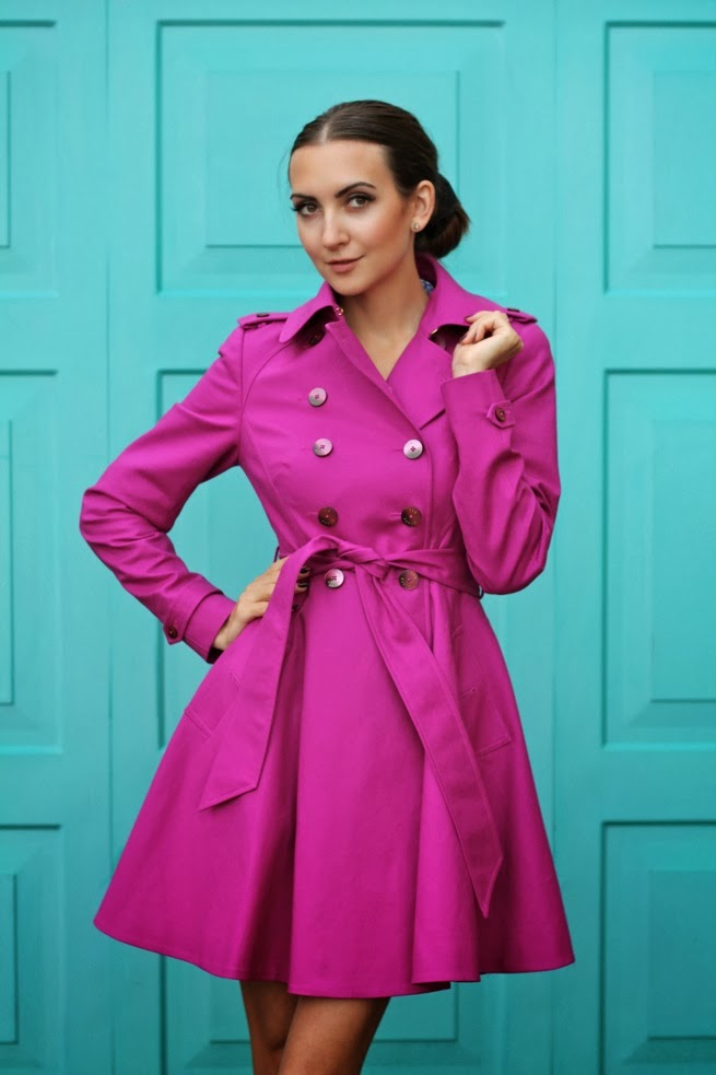 fitted pink coat, trend 2014 coats, galina thomas, russian fashion blogger, fashion blogger london, birmingham