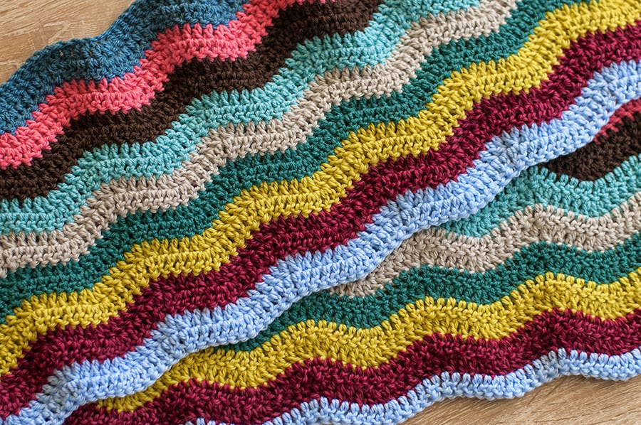 Cup Of Color Crochet Granny Ripple Blanket