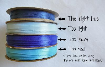 Shades of blue ribbon