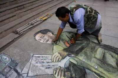 chalk art - cong langui - sidewalk chalk artist -
