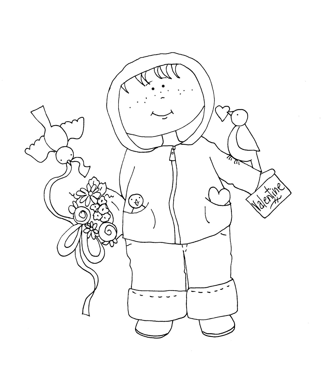 free dearie dolls digi stamps  valentine boy with flowers