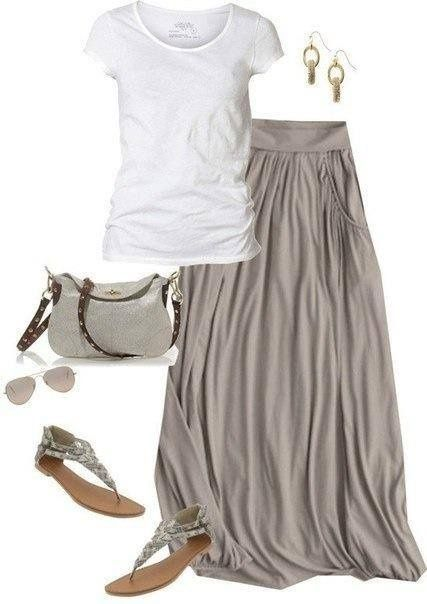 Simple classic grey and white combo fashion