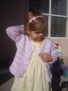 Stars in Shades of Lilac Toddler Cardigan