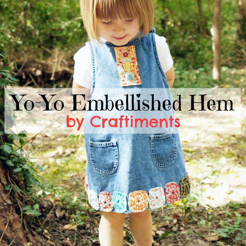 Craftiments:  Yo-yo embellished hem
