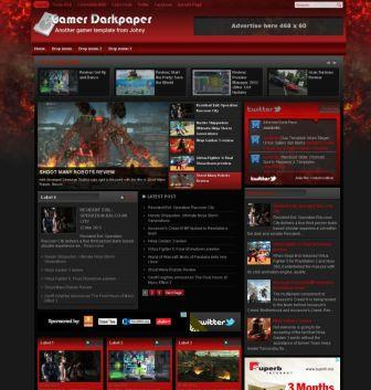 Gamer Darkpaper Blogger Template