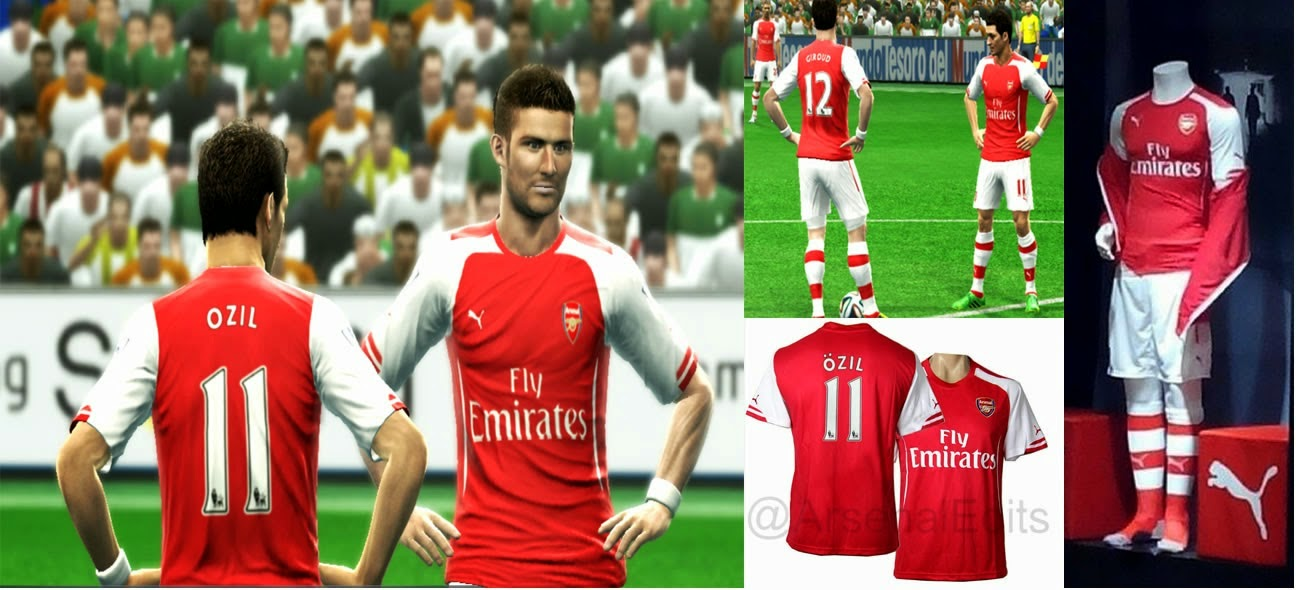 PES 2013 Arsenal FC Puma Kits 2014-2015 by RExPA